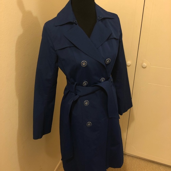 New York & Company Jackets & Blazers - Classic blue raincoat. Fits about a size 6/8.